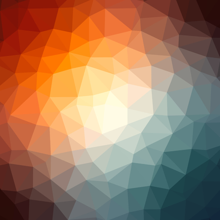 Low poly transparent colorful radial pattern background