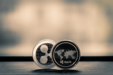 Ripple XRP coins cryptocurrency background