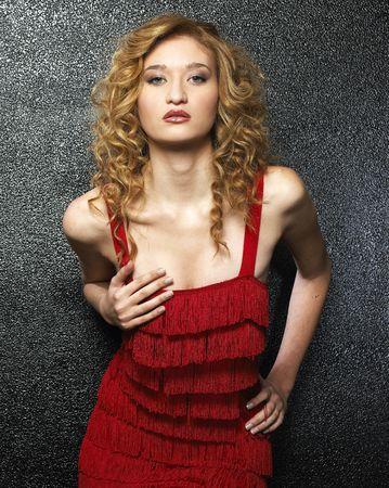 Beautiful fashion model photo