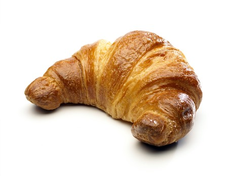 Cornetto (Croissant) isolated on white