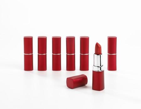 Red lipsticks Archivio Fotografico