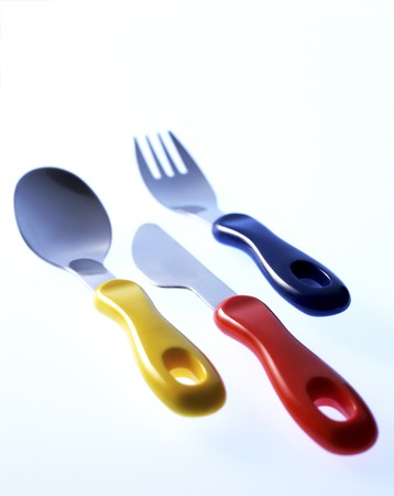 Babys Cutlery Set Stock Photo