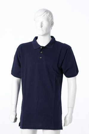 Blu polo shirt isolated on white