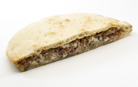 panino: Panino almuerzo con tocino, salami, queso y champi�ones