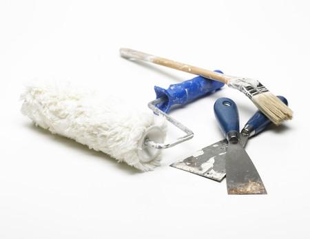 paint roller spatula paintbrush Stock Photo - 4310415