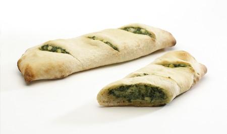 panino: Con la hora de comer panino hortalizas aislados en blanco