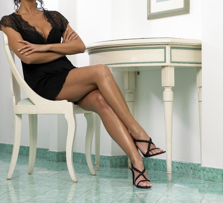 nice womans legs Stock Photo