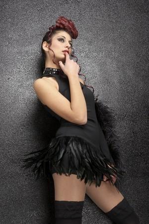sexy girl poising with black stocking Stock Photo - 4426855