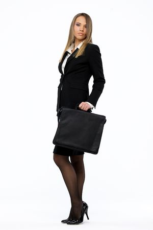 Portrait of a young attractive business woman photo