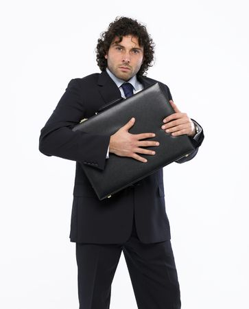 businessman with briefcase Stock Photo - 4642834