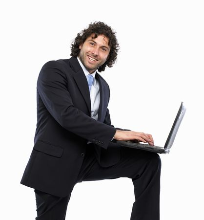 masculin: businessman laptop smile