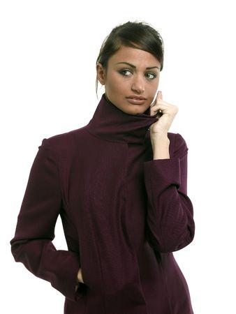 Fashion image of a beautiful young brunette. photo