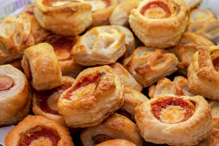 pizza, salad pizzas, aperitifs, snacks Stock Photo