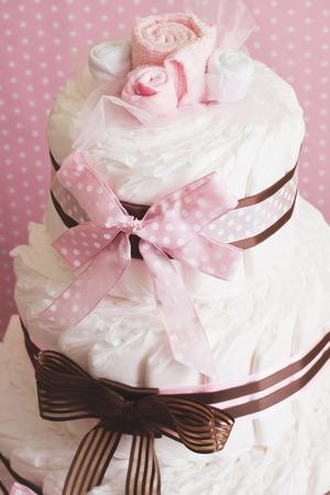 Diaper cake Stock Photo