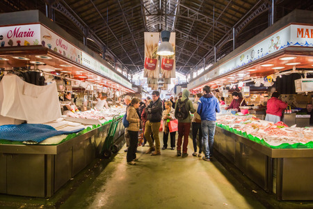 Barcellona - March 2015 -  photograph of boqueria of barcelona