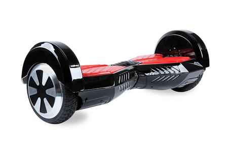 scooter: Close Up de doble rueda Auto Equilibrio el�ctrico Monopat�n inteligente Vespa en el fondo blanco Foto de archivo