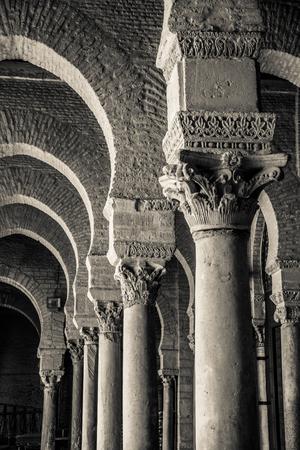 bn: Columns in Qayrawan Mosque Stock Photo