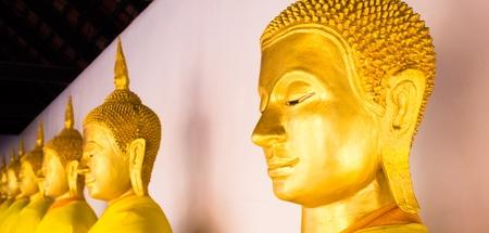 bouddha: buddha de ligne dans la p�riode d'Ayutthaya, Tha�lande