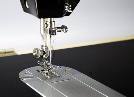 sewing pattern: sewing foot of Sewing machine Stock Photo