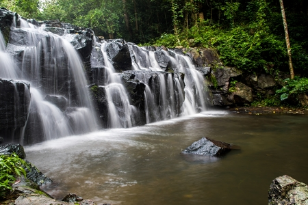 namtok: Sam Lan waterfall, Namtok Sam Lan National Park, Thailand.