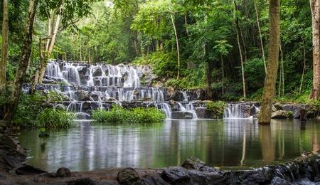 Sam Lan waterfall, Namtok Sam Lan National Park, Thailand.