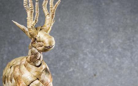 Deer handmade from natural materials.