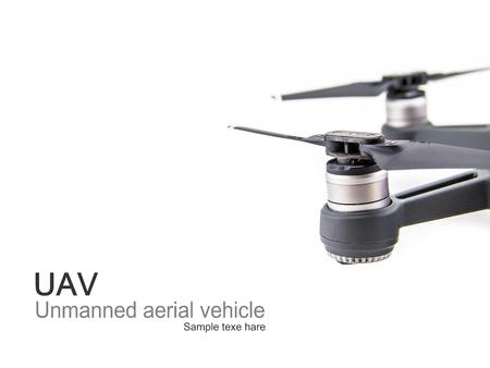 Brushless motor for Quadrocopter on isolate background