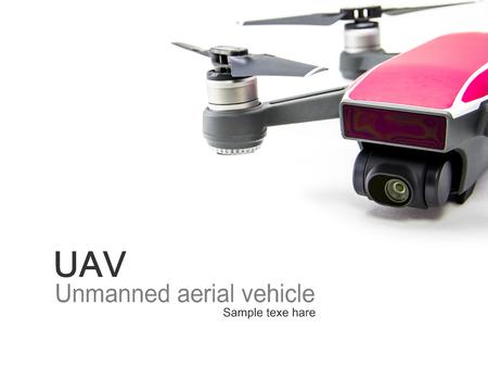 UAV Drone Quadrocopter on isolate background Zdjęcie Seryjne