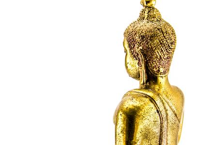 Buddha statue on white isolate background. Zdjęcie Seryjne