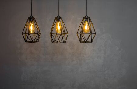 Luxury  vintage style with light lamp decor.