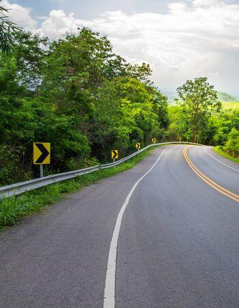 Country road on rainy season of Thailand. 写真素材