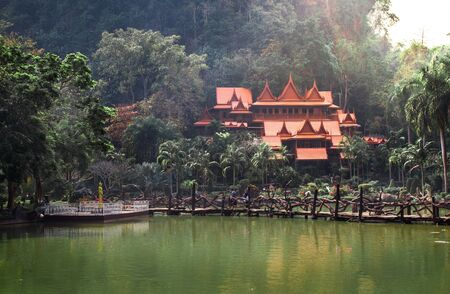Wat Tham Khao Wong. Temple in Uthai Thani Province, Thailand.