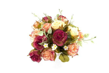 well made: This is a bunch of artificial roses with well-mixed of colors which is made by hand