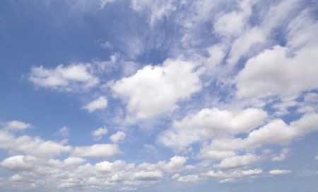 Bright Blue Sky with beautiful cloud on a shiny day 写真素材