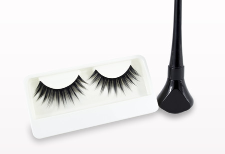 False Eyelash on white background and with cliipping path