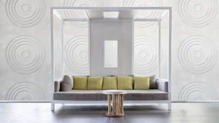 classic living room: Modern square-sjhaped sofa