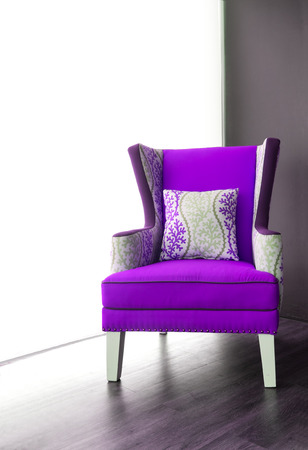 Modern Purple Armchair Stock Photo   37311774