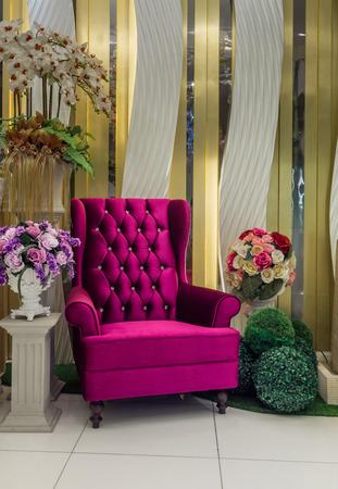 luxurious: Luxurious purple armchair Stock Photo