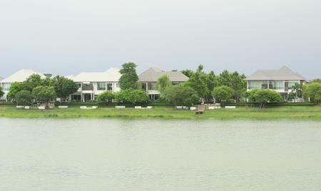 Luxury Homes - Beautiful  homes on a lake. photo