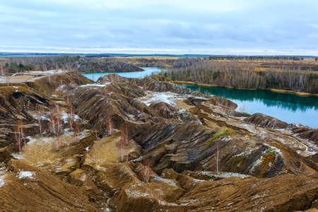 Abandoned coal quarries near Konduki village, Tula oblast, Romantsevskie mountains, Russia