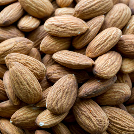 Raw fresh organic almond nuts.