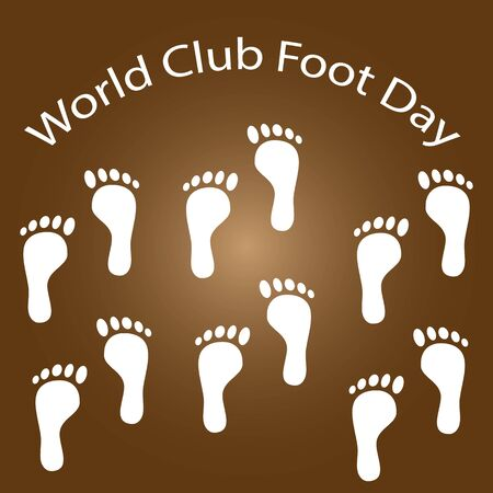 June 3rd is officially World Clubfoot Day, an initiative of the Ponseti International Association to commemorate the birthday of Ignacio Ponseti, the pioneer of the Ponseti technique for clubfoot. Иллюстрация