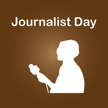 Journalist Day is annually celebrated all over the world.Doing this throughout the day allows journalists to come up with and editorial plan and assign reporters to stories that need to be covered. Illustration