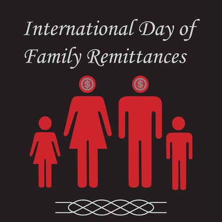 The International Day of Family Remittances (IDFR) is a universally-recognized observance adopted by the United Nations General Assembly and celebrated every year on 16 June. Ilustração