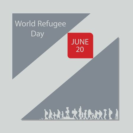 World Refugee Day, international observance observed June 20 each year, is dedicated to raising awareness of the situation of refugees throughout the world. Ilustração