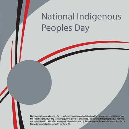 National Indigenous Peoples Day is a day recognising and celebrating the cultures and contributions of the First Nations Vektoros illusztráció