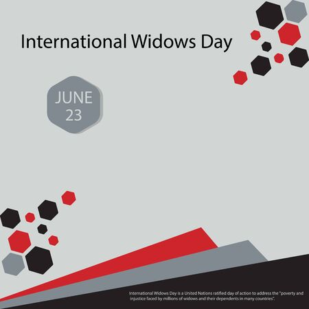 International Widows Day is a United Nations ratified day of action to address the