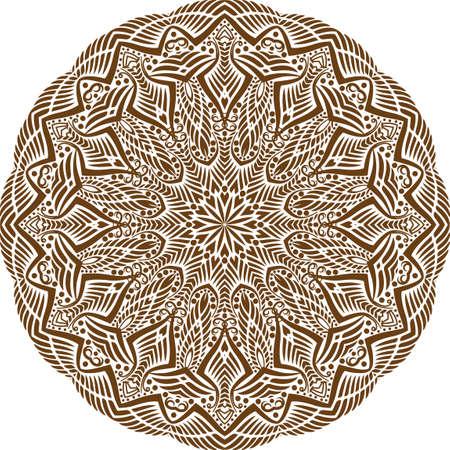 A mandala is a geometric configuration of symbols.