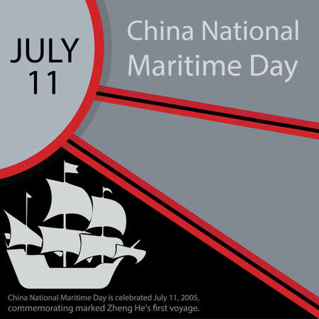 China National Maritime Day is celebrated July 11, 2005, commemorating marked Zheng He's first voyage. 写真素材 - 150730612