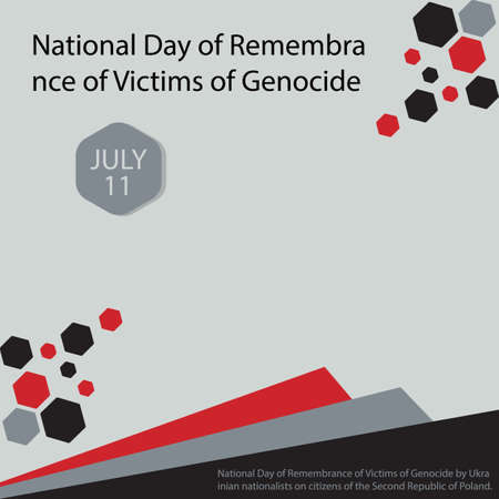 National Day of Remembrance of Victims of Genocide by Ukrainian nationalists on citizens of the Second Republic of Poland. Vettoriali